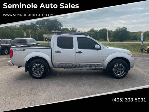 2019 Nissan Frontier for sale at Seminole Auto Sales in Seminole OK