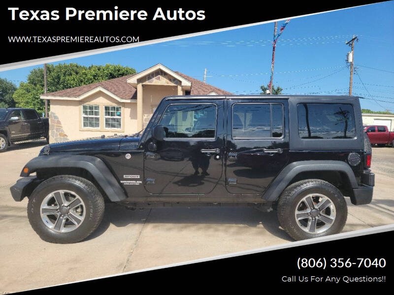 2017 Jeep Wrangler Unlimited for sale at Texas Premiere Autos in Amarillo TX