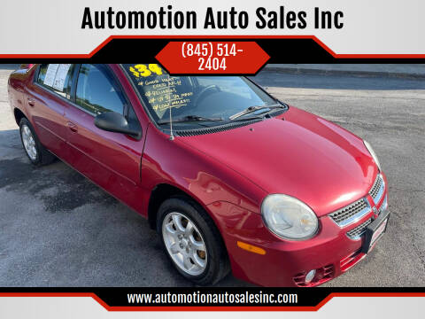 2005 Dodge Neon for sale at Automotion Auto Sales Inc in Kingston NY