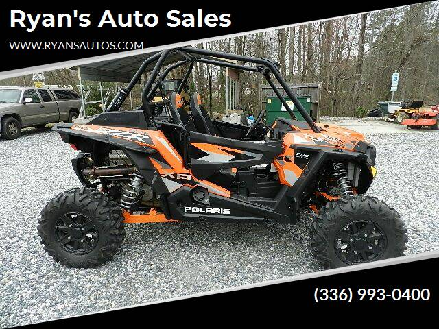 2016 Polaris RZR Turbo for sale at Ryan's Auto Sales in Kernersville NC