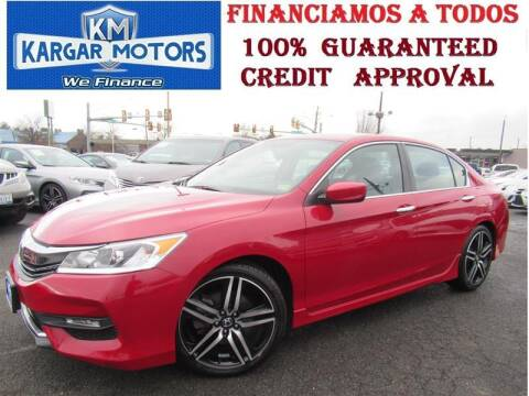 2017 Honda Accord for sale at Kargar Motors of Manassas in Manassas VA