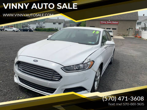 2015 Ford Fusion for sale at VINNY AUTO SALE in Duryea PA