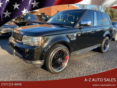 2010 Land Rover Range Rover Sport for sale at A-Z Auto Sales in Newport News VA