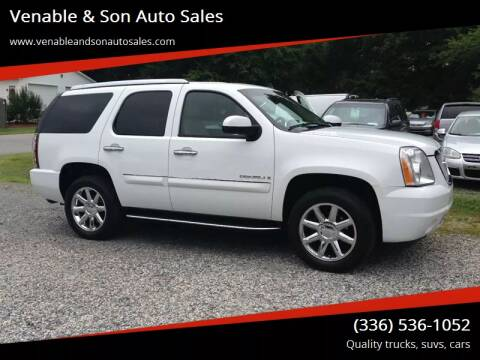 2007 GMC Yukon for sale at Venable & Son Auto Sales in Walnut Cove NC