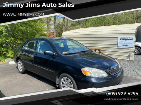 2008 Toyota Corolla for sale at Jimmy Jims Auto Sales in Tabernacle NJ