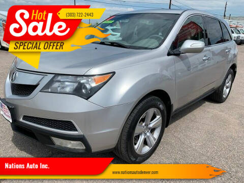 2011 Acura MDX for sale at Nations Auto Inc. in Denver CO