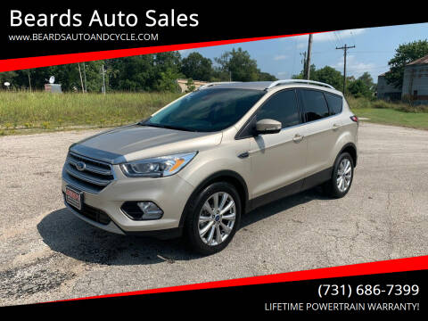 2017 Ford Escape for sale at Beards Auto Sales in Milan TN