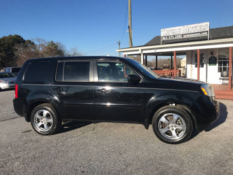 2013 Honda Pilot for sale at TAVERN MOTORS in Laurens SC