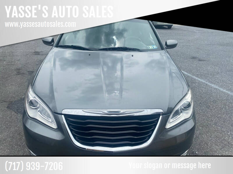 2013 Chrysler 200 for sale at YASSE'S AUTO SALES in Steelton PA