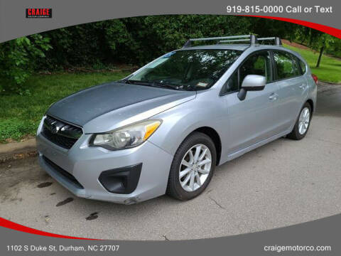 2012 Subaru Impreza for sale at CRAIGE MOTOR CO in Durham NC