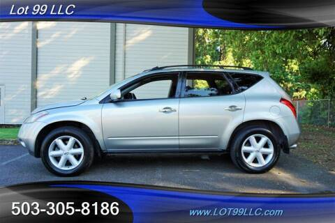 2004 Nissan Murano for sale at LOT 99 LLC in Milwaukie OR