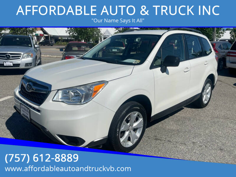 2016 Subaru Forester for sale at AFFORDABLE AUTO & TRUCK INC in Virginia Beach VA