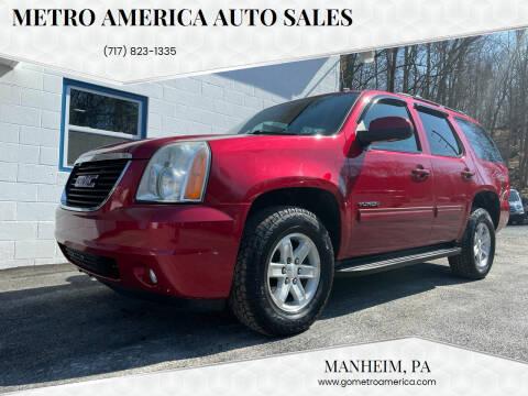 2012 GMC Yukon for sale at METRO AMERICA AUTO SALES of Manheim in Manheim PA