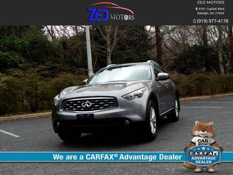 2009 Infiniti FX35 for sale at Zed Motors in Raleigh NC