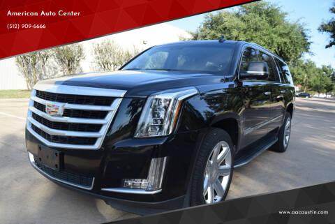 2016 Cadillac Escalade ESV for sale at American Auto Center in Austin TX