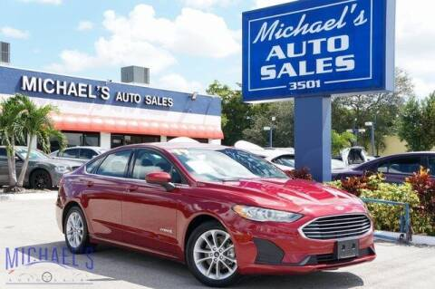 2019 Ford Fusion Hybrid for sale at Michael's Auto Sales Corp in Hollywood FL