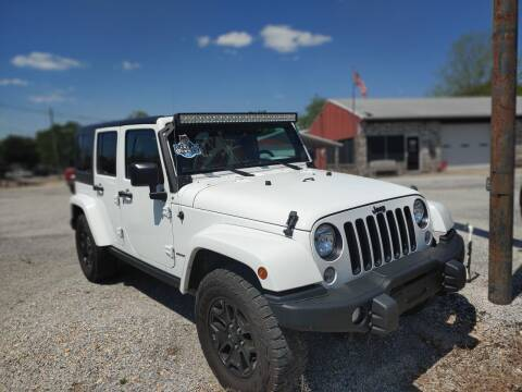 2016 Jeep Wrangler Unlimited for sale at VAUGHN'S USED CARS in Guin AL
