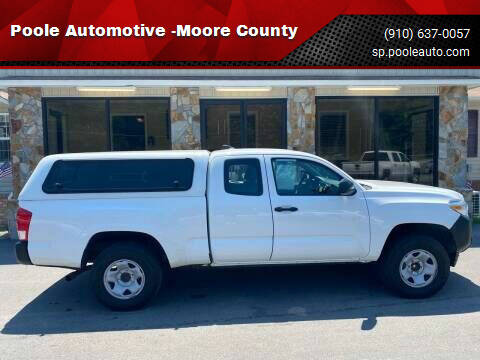 2017 Toyota Tacoma for sale at Poole Automotive in Laurinburg NC