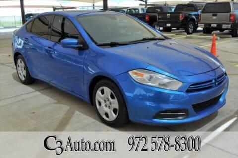 2015 Dodge Dart for sale at C3Auto.com in Plano TX