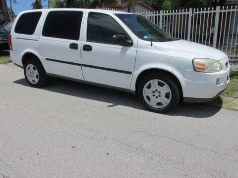 2007 Chevrolet Uplander for sale at TROPICAL MOTOR CARS INC in Miami FL
