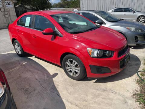 2015 Chevrolet Sonic for sale at Lemanz Motors in San Antonio TX