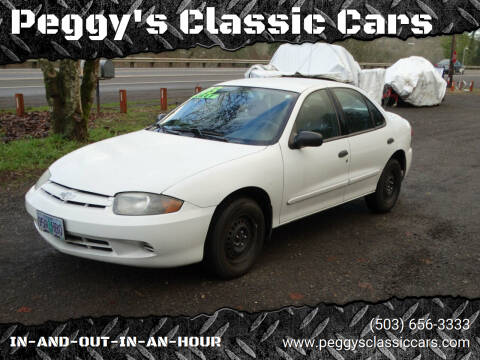 2003 Chevrolet Cavalier for sale at Peggy's Classic Cars in Oregon City OR