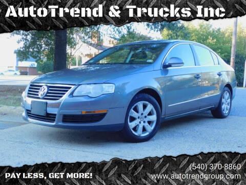 2007 Volkswagen Passat for sale at AutoTrend & Trucks Inc in Fredericksburg VA