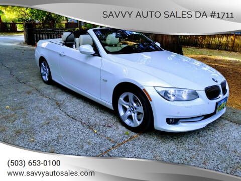 2013 BMW 3 Series for sale at SAVVY AUTO SALES DA #1711 in Portland OR