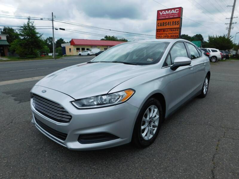 2015 Ford Fusion for sale at Cars 4 Less in Manassas VA