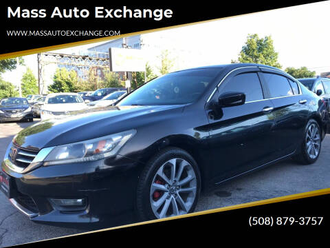 2014 Honda Accord for sale at Mass Auto Exchange in Framingham MA