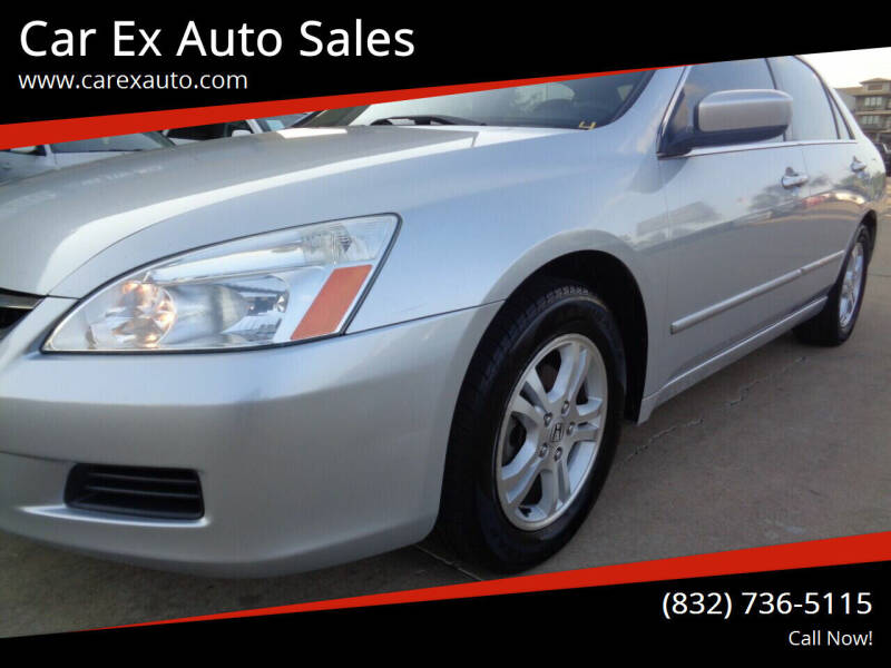 2006 Honda Accord for sale at Car Ex Auto Sales in Houston TX