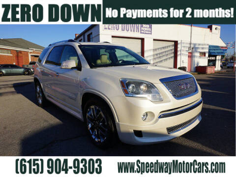 2012 GMC Acadia for sale at Speedway Motors in Murfreesboro TN