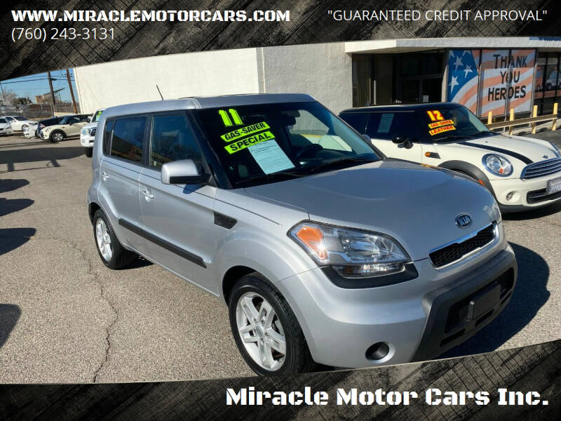 2011 Kia Soul for sale at Miracle Motor Cars Inc. in Victorville CA