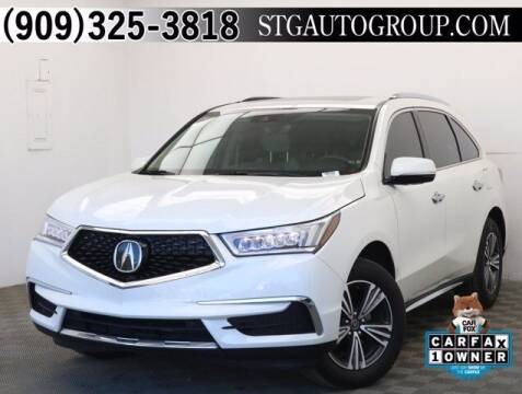 2018 Acura MDX for sale at STG Auto Group in Montclair CA