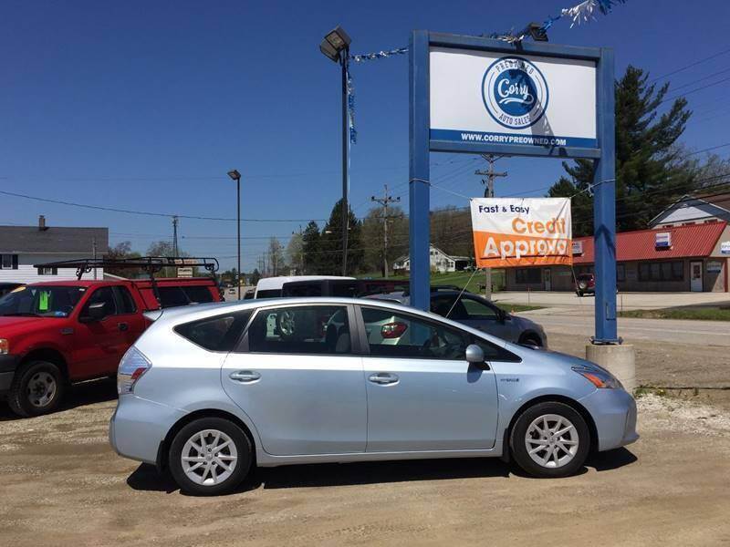 2014 Toyota Prius v for sale at Corry Pre Owned Auto Sales in Corry PA