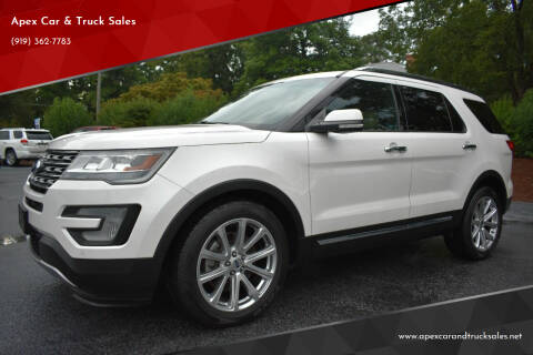 2017 Ford Explorer for sale at Apex Car & Truck Sales in Apex NC