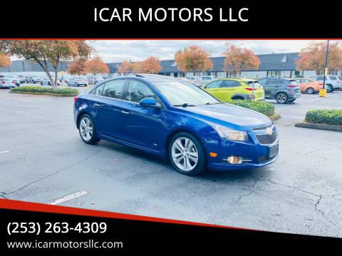 2012 Chevrolet Cruze for sale at ICAR MOTORS LLC in Federal Way WA