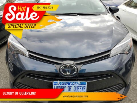 2019 Toyota Corolla for sale at LUXURY OF QUEENS,INC in Long Island City NY