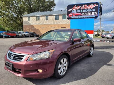 2009 Honda Accord for sale at Auto Outlet Sales and Rentals in Norfolk VA