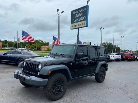 2017 Jeep Wrangler Unlimited for sale at Michaels Autos in Orlando FL