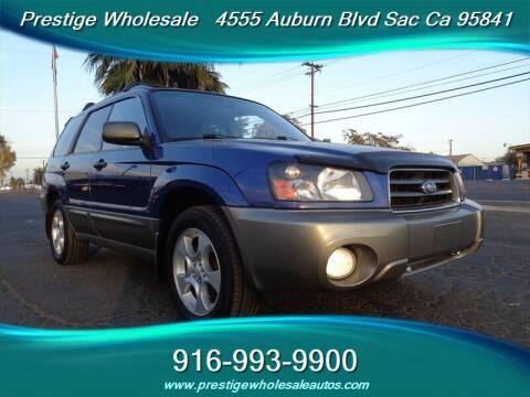 2003 Subaru Forester for sale at Prestige Wholesale in Sacramento CA