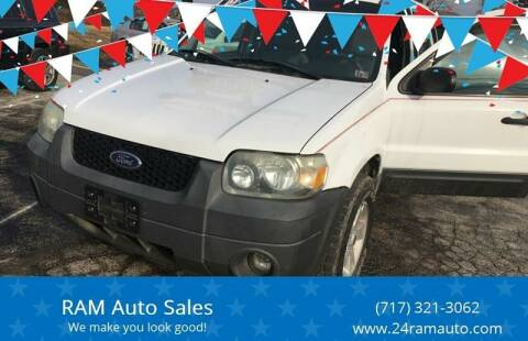 2005 Ford Escape for sale at Ram Auto Sales in Gettysburg PA