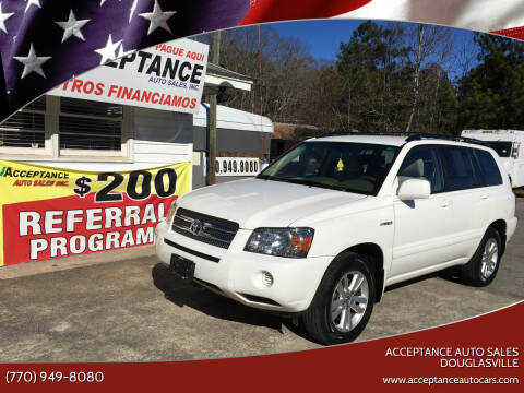2006 Toyota Highlander Hybrid for sale at Acceptance Auto Sales Douglasville in Douglasville GA