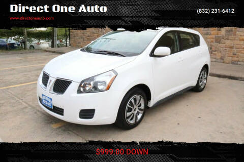 2009 Pontiac Vibe for sale at Direct One Auto in Houston TX