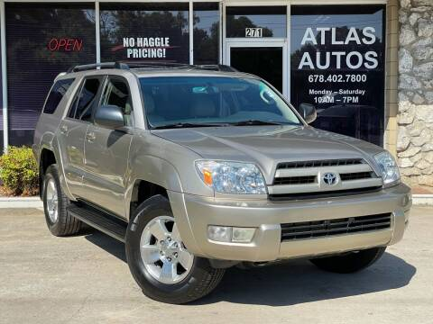 2004 Toyota 4Runner for sale at ATLAS AUTOS in Marietta GA