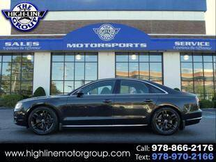 2015 Audi A8 for sale at Highline Group Motorsports in Lowell MA