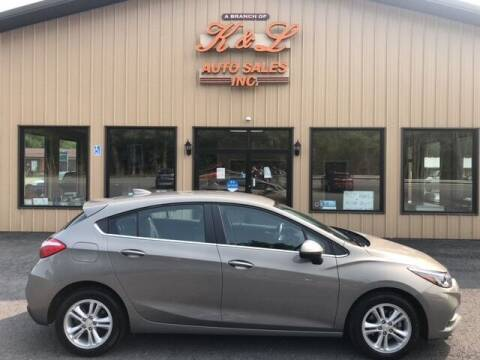 2018 Chevrolet Cruze for sale at K & L AUTO SALES, INC in Mill Hall PA