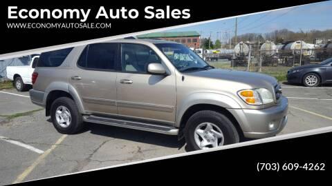 2002 Toyota Sequoia for sale at Economy Auto Sales in Dumfries VA