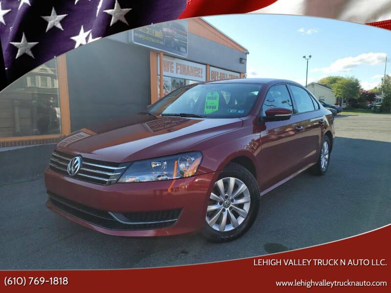 2015 Volkswagen Passat for sale at Lehigh Valley Truck n Auto LLC. in Schnecksville PA