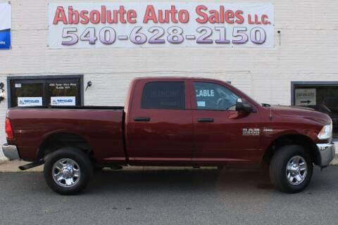 2017 RAM Ram Pickup 2500 for sale at Absolute Auto Sales in Fredericksburg VA